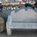 Concrete bench gift, available at Foreman's