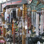 An assortment of wind chime gifts available at Foreman's