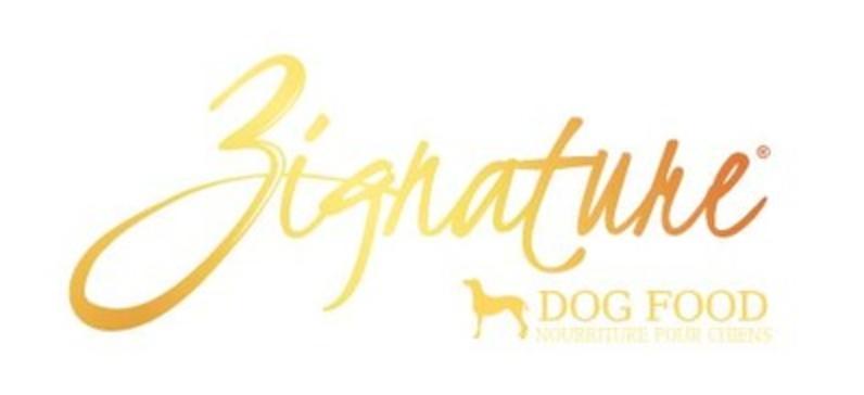 Zignature dog food, part of Foreman's Pet Food Rewards Program