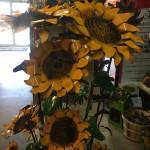 Metal sunflowers gift