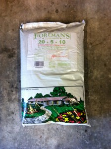 Foreman's Fertilizer: 20-5-10