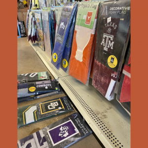 Show your school spirit with our licensed Collegiate Flags at Foreman's!
