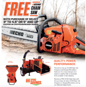 Free Echo Chainsaw Promotion | Foreman's General Store