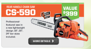 Free Echo Chainsaw Promotion